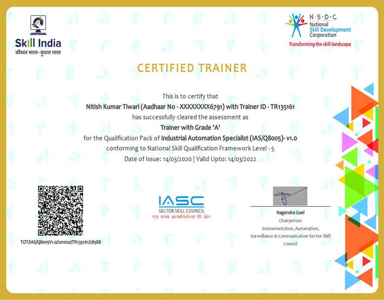 Nitish Tiwari _IAS Certificate