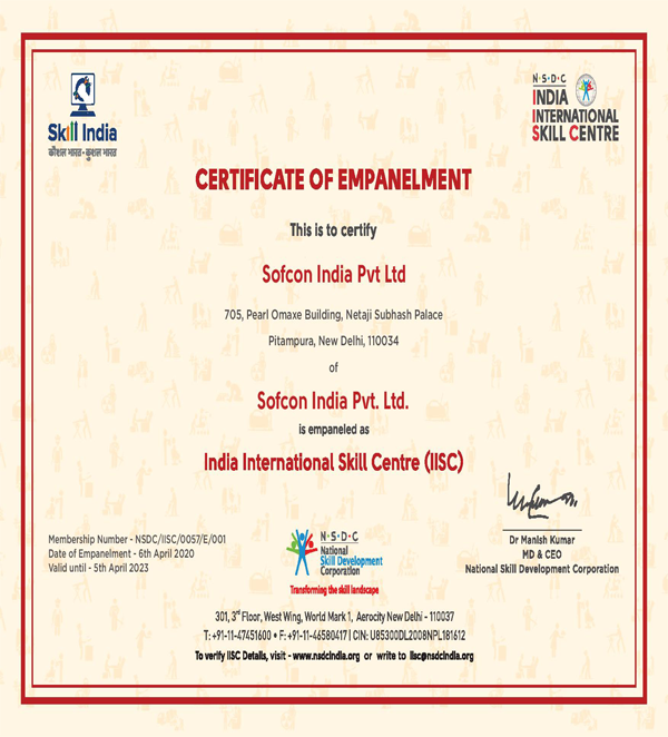 certificate of empanelment
